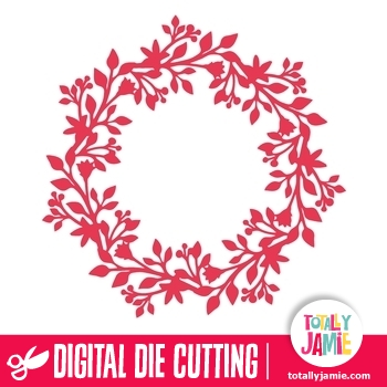 Christmas Wreath Decoration 3 Totallyjamie Svg Cut