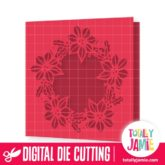 Christmas Wreath Holly Window Card - SVG Cut Files