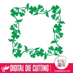 Clover Shamrock Frame - SVG Cut Files