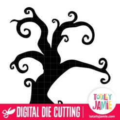 Creepy Halloween Tree - SVG Cut Files