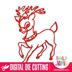 Cute Christmas Reindeer - SVG Cut Files