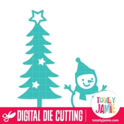 Cute Christmas Tree Snowman - SVG Cut Files