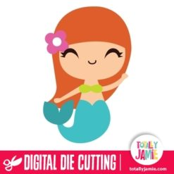 Cute Little Mermaid 2 - SVG Cut Files