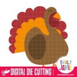 Cute Turkey - SVG Cut Files