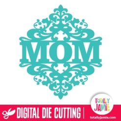 Damask Ornamental Flourish Split Mom Title