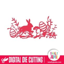 Easter Bunny Egg Floral Leaves Decoration