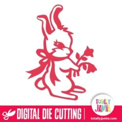 Easter Bunny Rabbit Flowers - SVG Cut Files