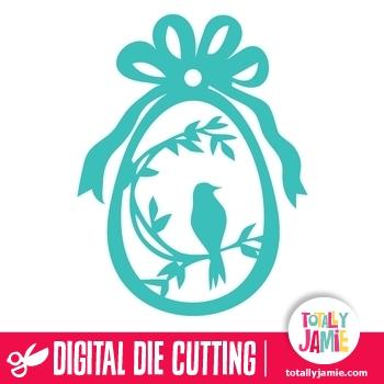 Easter Egg Bird Flourish