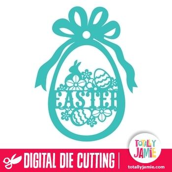 Easter Egg Ribbon Decor