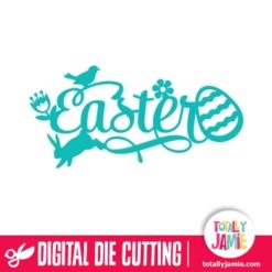 Easter Fancy Whimsical Title - SVG Cut Files