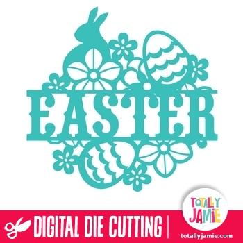 Easter Floral Vintage Split Title