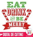 TJ-SVG-eat_drink_and_be_merry_word_art - SVG Cut Files