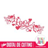 Fancy Love Title Cupids - SVG Cut Files