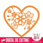 Floral Cluster Heart - SVG Cut Files