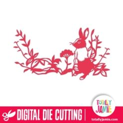 Floral Leaves Rabbit Decoration