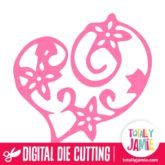 Floral Swirl Heart Love - SVG Cut Files