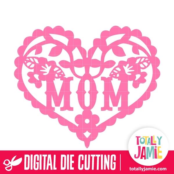 Flower Flourish Heart Mom