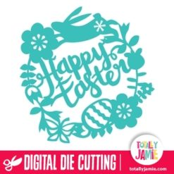 Flowers Leaves Wreath Happy Easter