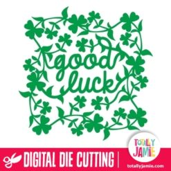 Good Luck Leafy Clover Frame - SVG Cut Files