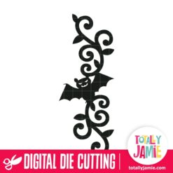 Halloween Bat Flourish Decoration - SVG Cut Files
