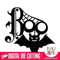 Halloween Boo Tittle Decor - SVG Cut Files
