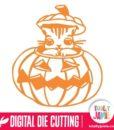 Halloween Cat Peekaboo Pumpkin