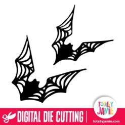 Halloween Cob Web Bats