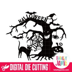 Halloween Decoration Spooky Tree - SVG Cut Files