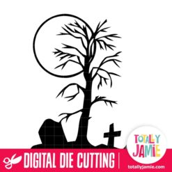 Halloween Graveyard Tree - SVG Cut Files