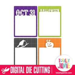 Halloween Life Card 3x4 Set - SVG Cut Files