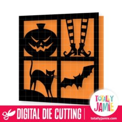 Halloween Mosaic Card - SVG Cut Files