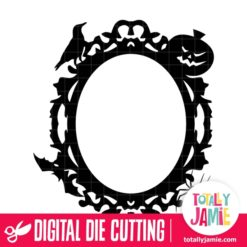 Halloween Ornate Oval Frame - SVG Cut Files