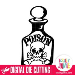 Halloween Poison Bottle - SVG Cut Files