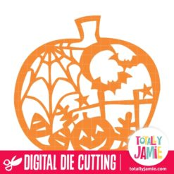 Halloween Pumpkin Scene Cutout - SVG Cut Files
