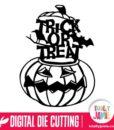 Halloween Pumpkin Trick Or Treat Phrase