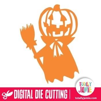 Halloween Pumpkin Witch Man
