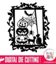 Halloween Pumpkins Stack Decoration Gothic Frame - SVG Cut Files