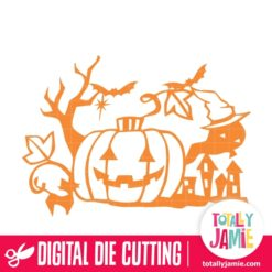 Halloween Scene Cutout - SVG Cut Files