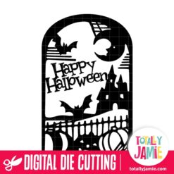 Halloween Scene Tag - SVG Cut Files