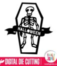Halloween Skeleton Coffin Banner