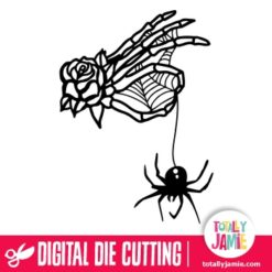 Halloween Skeleton Hand Spider - SVG Cut Files