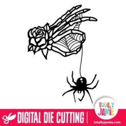 Halloween Skeleton Hand Spider