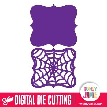 Halloween Spider Web Artisan Bracket Label