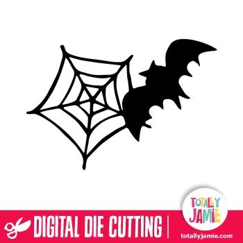 Halloween Spider Web Bat