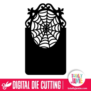 Halloween Spider Web Ornate Tag