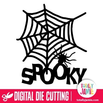 Halloween Spider Web Spooky Title
