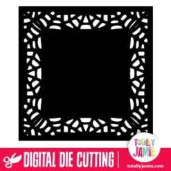 Halloween Spider Web Square Doily