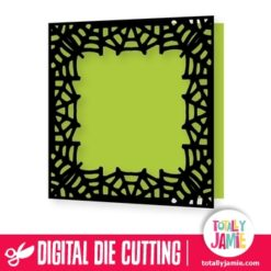Halloween Spider Web Window Card