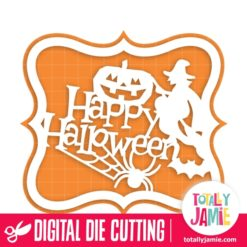 Halloween Spooky Title Decor Artisan Bracket Label - SVG Cut Files