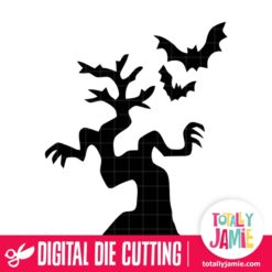 Halloween Spooky Tree Bats - SVG Cut Files